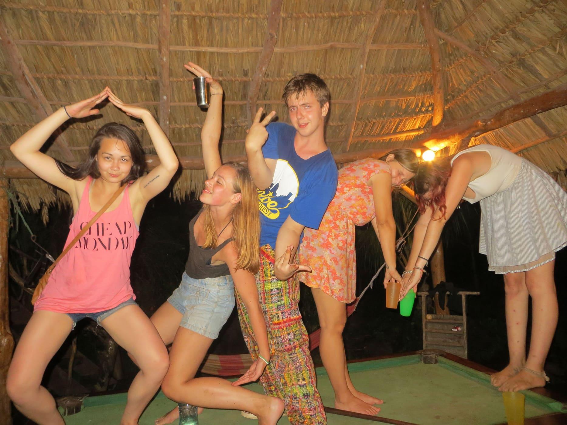 13 drink drinking challenge on Isla de Ometepe, Nicaragua