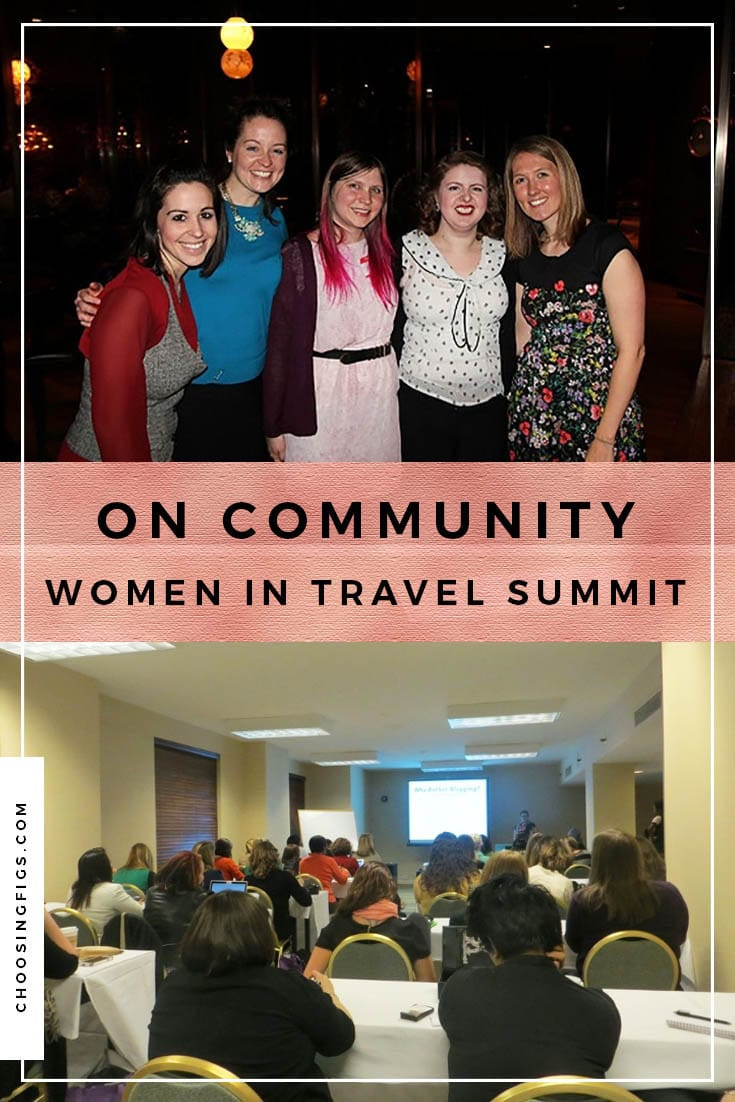 On community. Women in Travel Summit 2014.