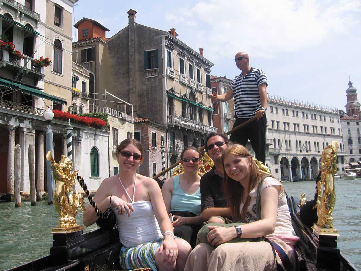 I quit my job to travel the world!A gondola ride in Venice, Italy.