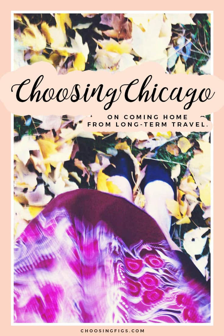 Choosing Chicago. On coming home from long-term travel.