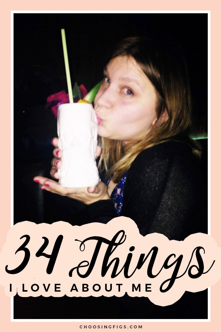 34 Things I Love About Me. Reflection on turning 34 and a party at Three Dots and a Dash.