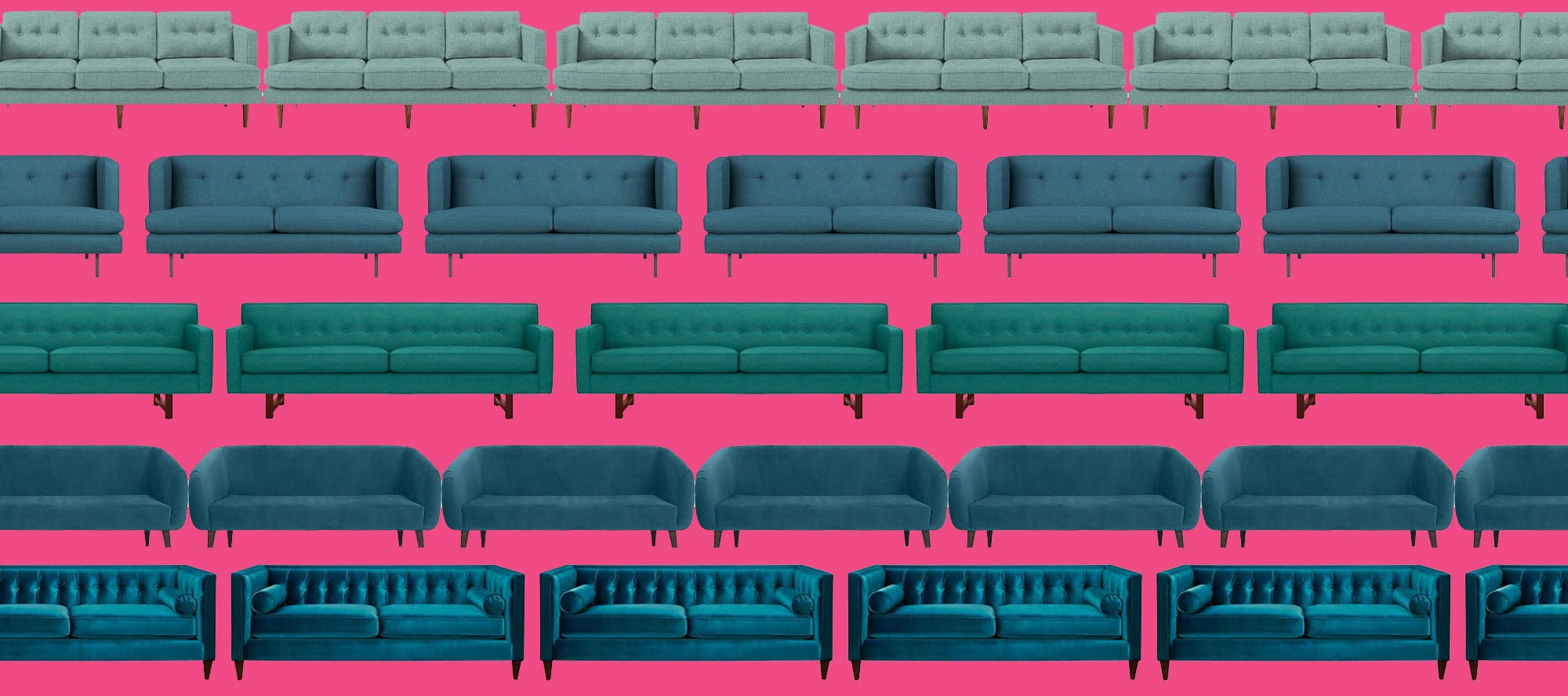 In Search of the Perfect Teal Couch