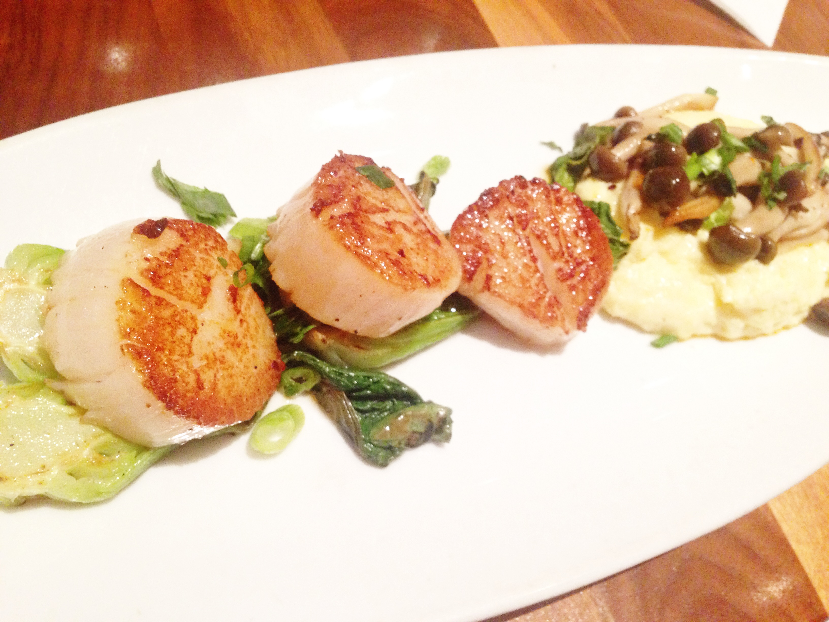 Scallops at Townhouse Wine Bar