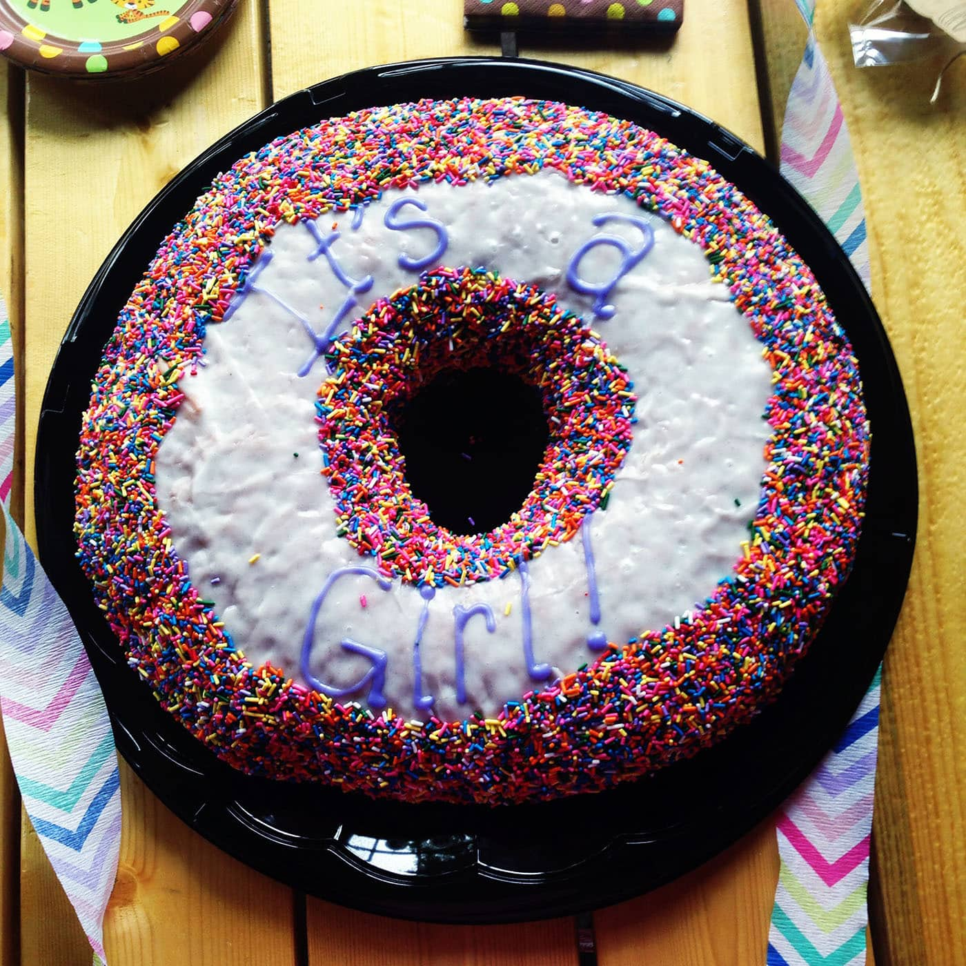 It's a Girl Doughnut Cake from Glazed and Infused