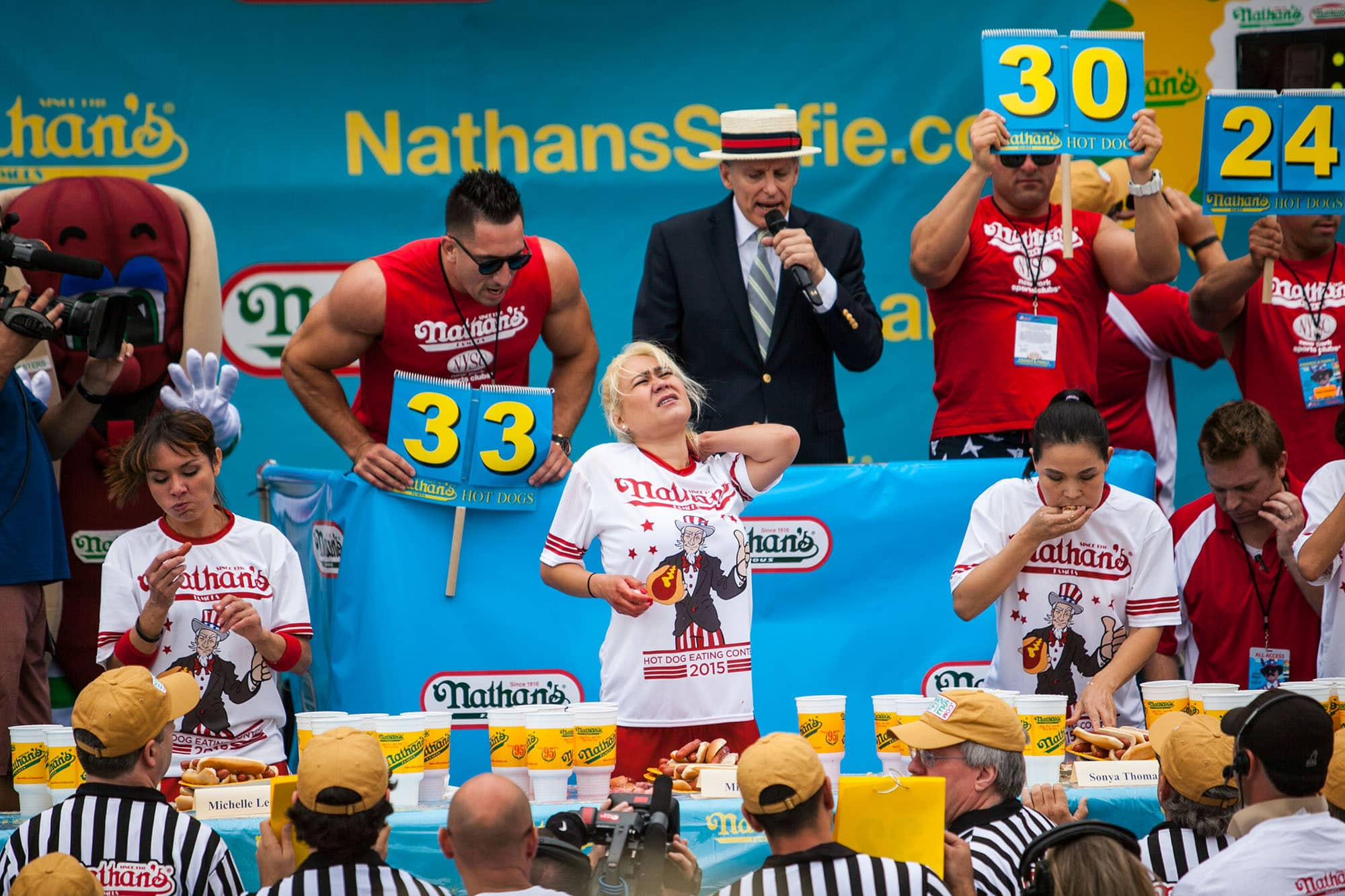 Miki Sudo wins the 2015 Nathan's Famous July 4 Hot Dog Eating Contest