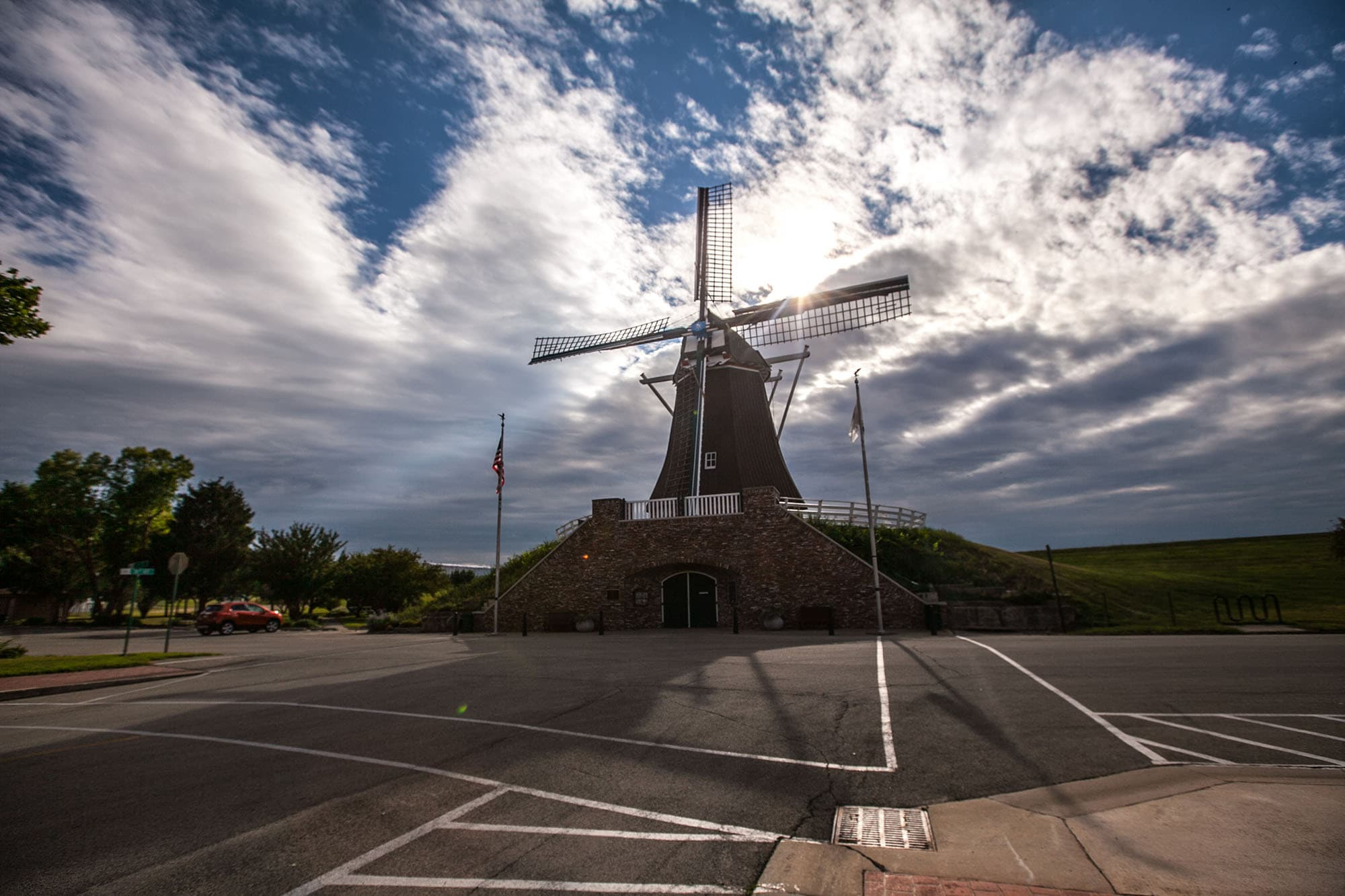 De Immigrant Windmill in Fulton, Illinois.