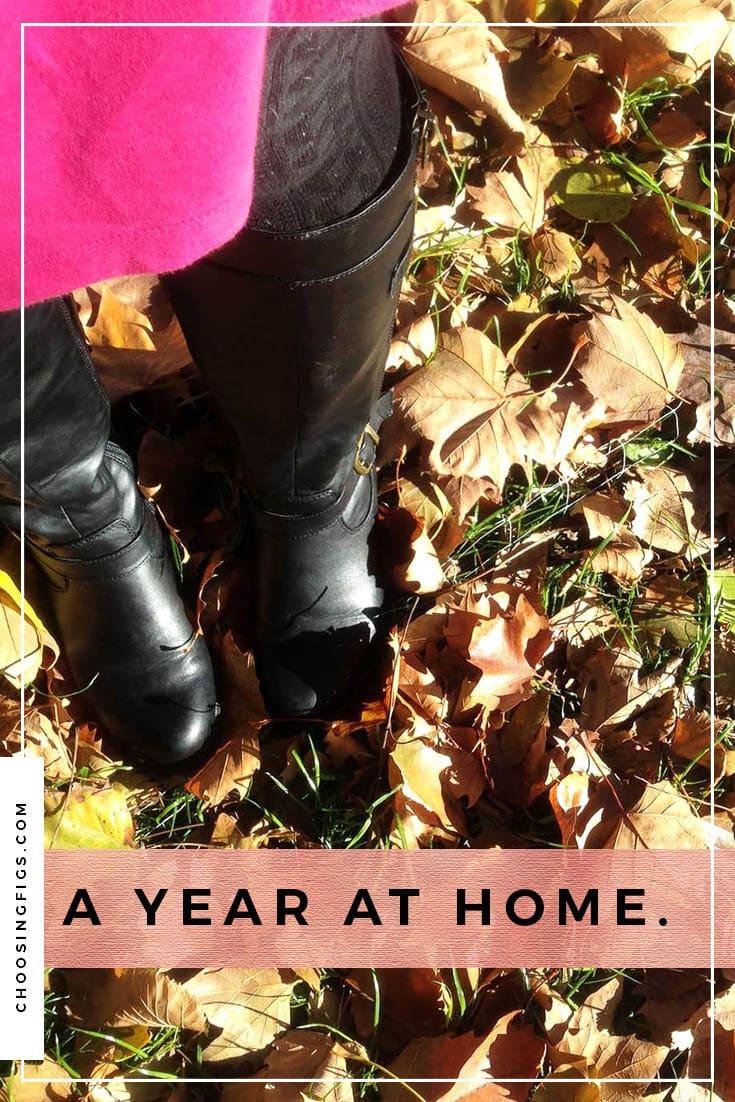 A year at home.