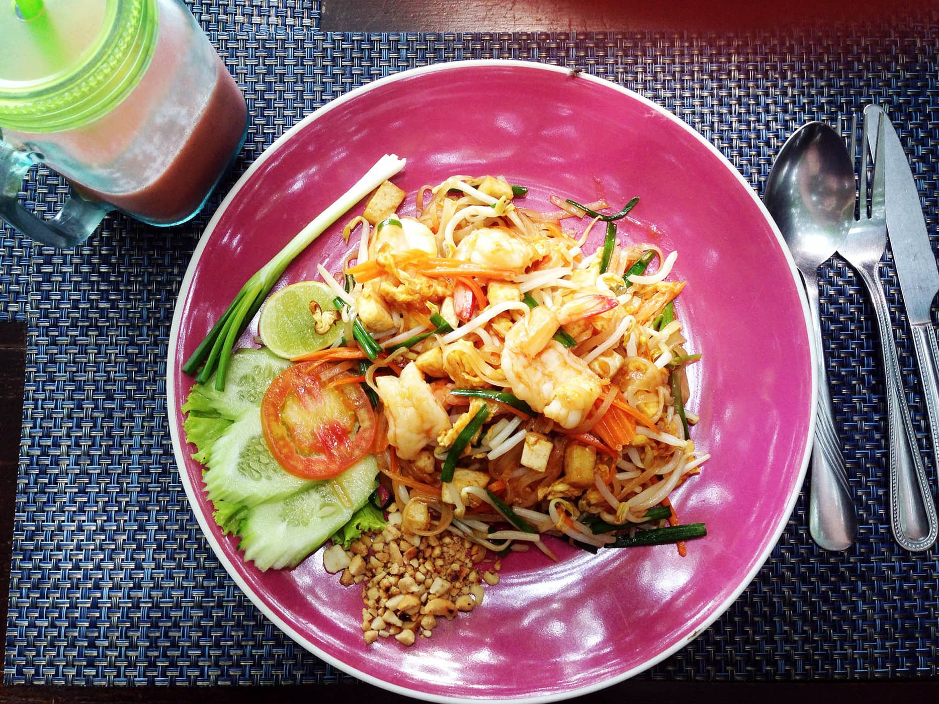Pad Thai with Prawn - because you absolutely can not visit Thailand without getting at least one Pad Thai.