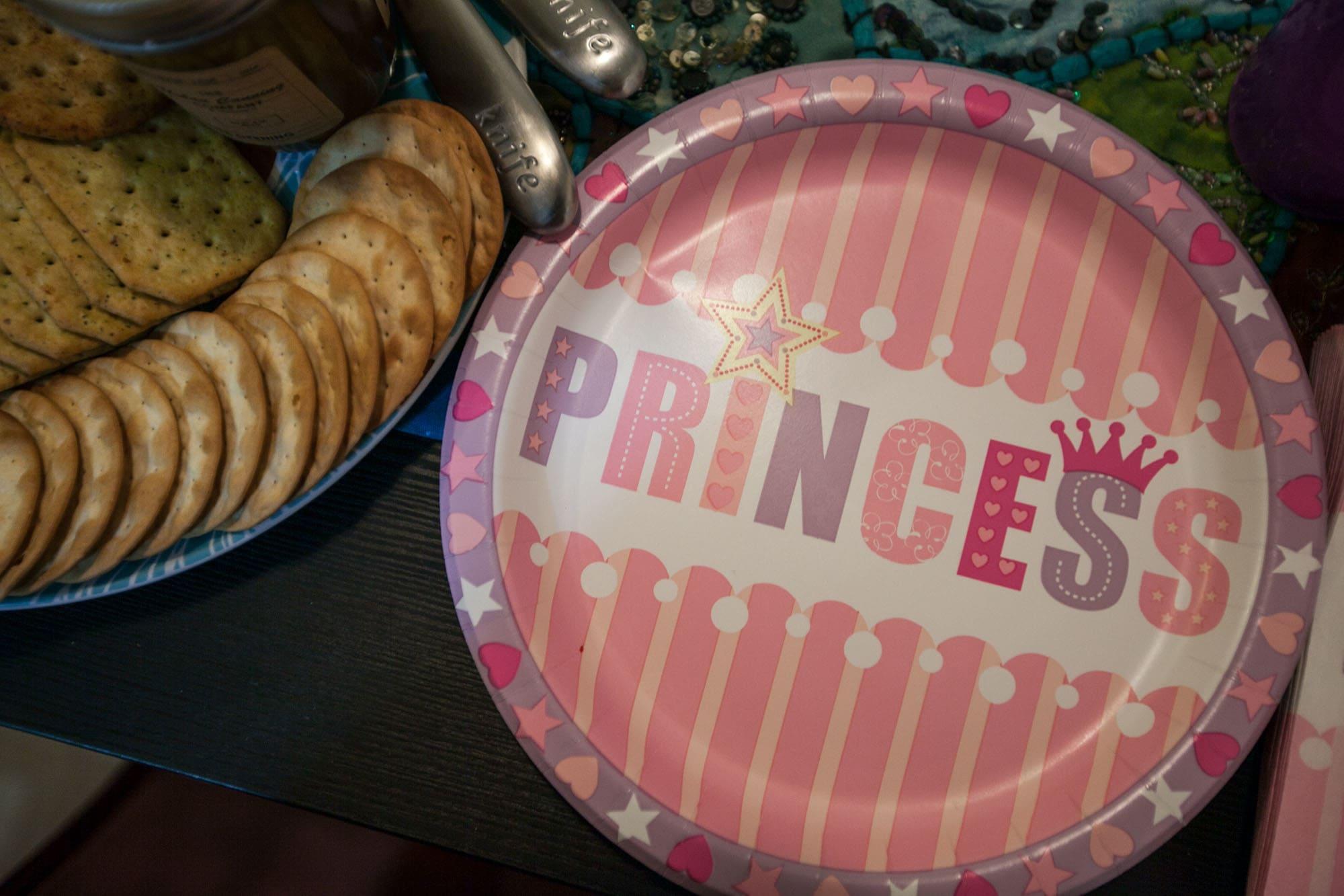 Princess plates. Because who wants boring plates?