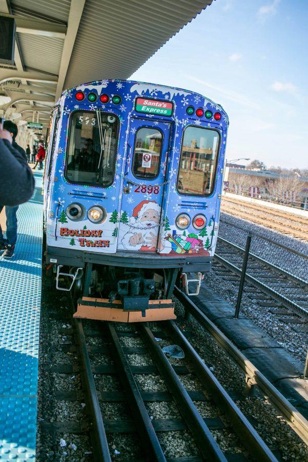 chicago cta santa holiday train - Cta Christmas Train 2014
