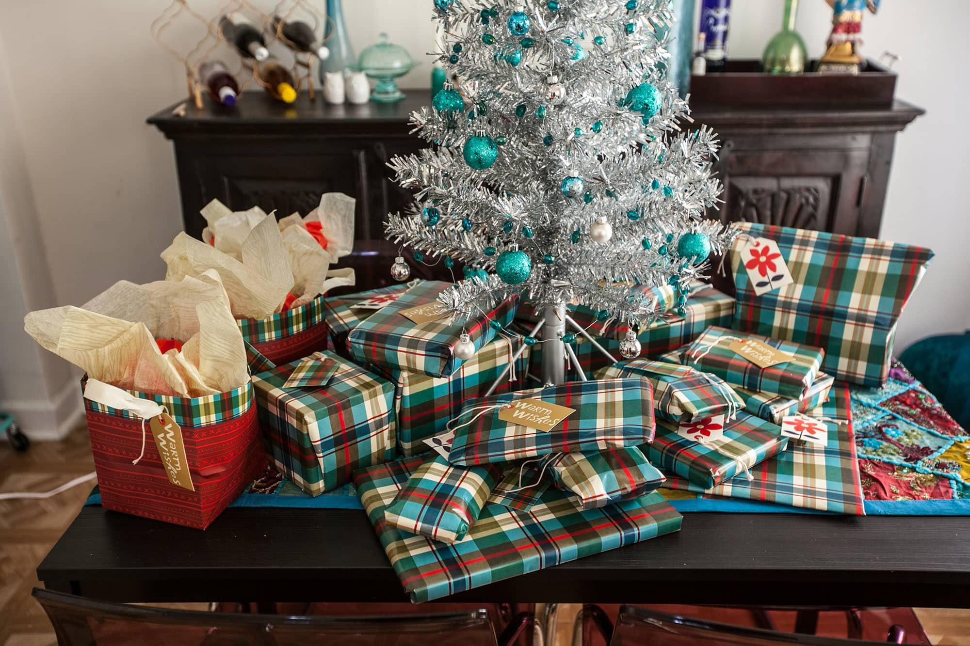 Christmas presents under my tree.