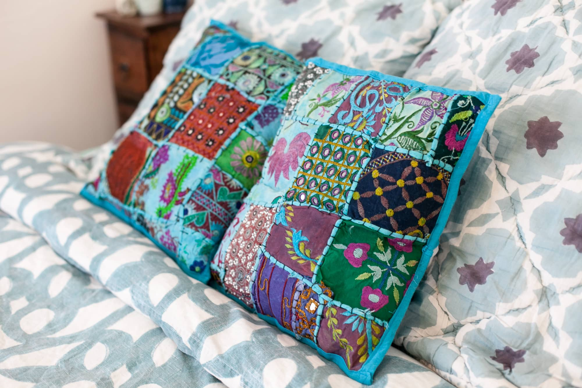 Pillows from India.