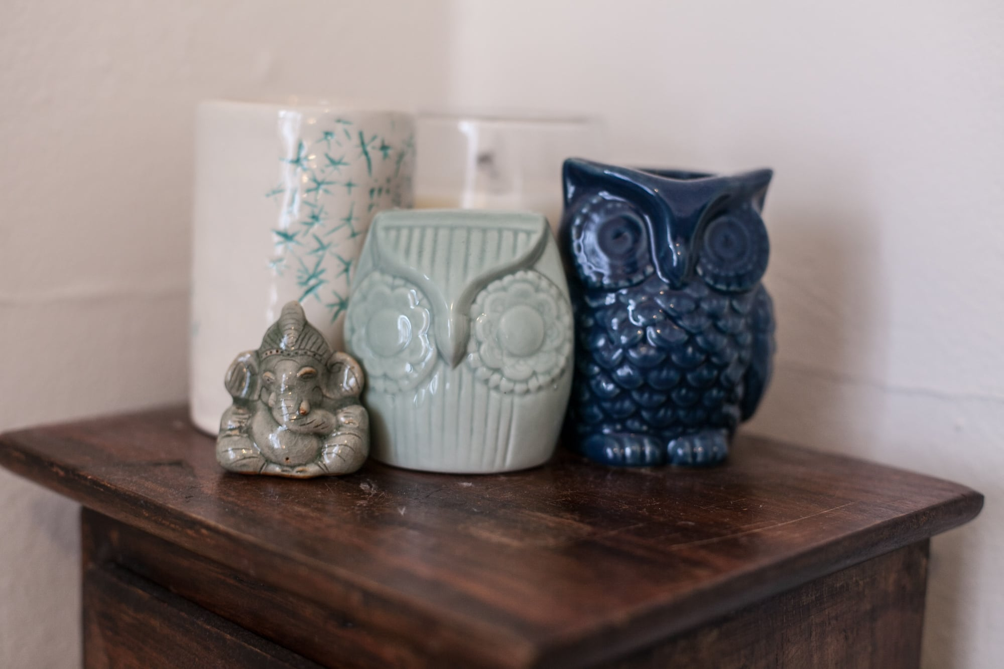 Owls by my bed.