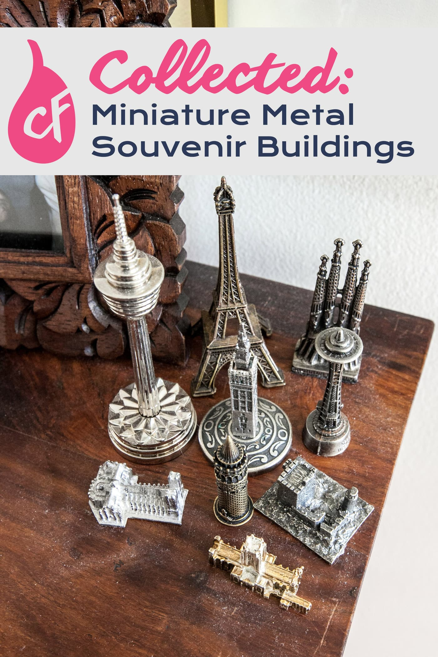Collecting miniature metal souvenir buildings from around the world.