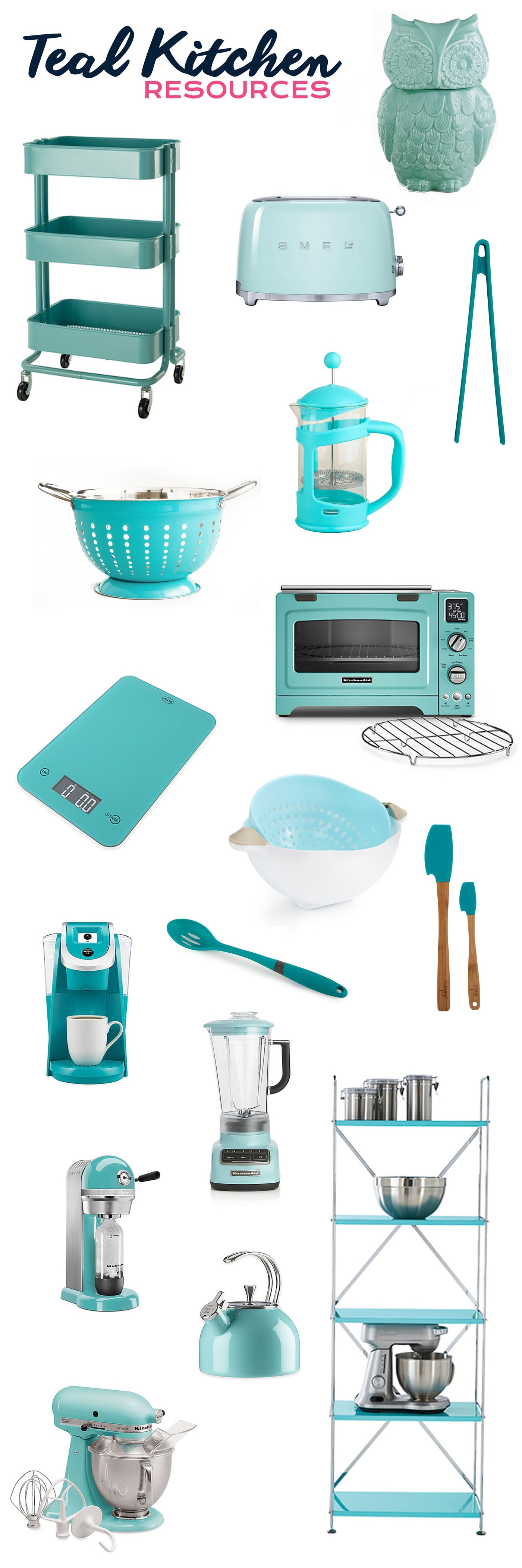 My Favorite Resources for Teal Kitchens • Choosing Figs