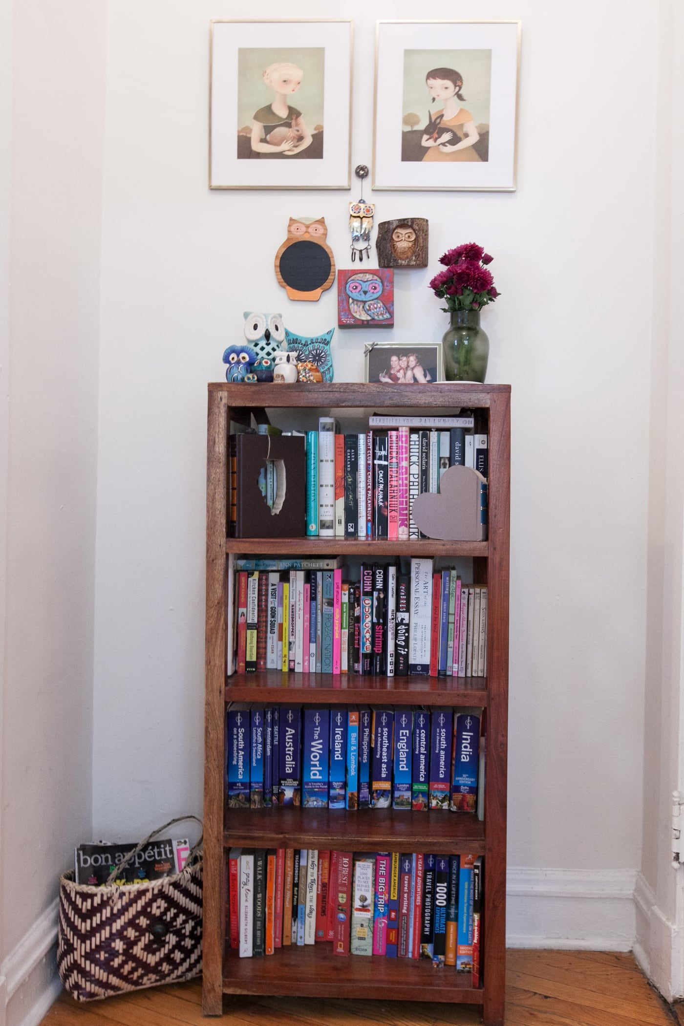 The bookcase in my entryway.