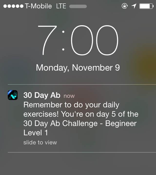 30 Day Ab Reminder