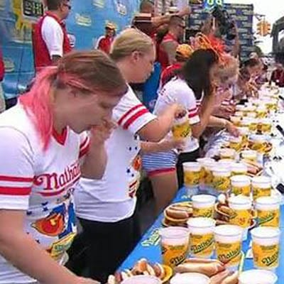Life List - #206 Compete at the Nathan's Famous July Fourth Hot Dog Eating Contest.