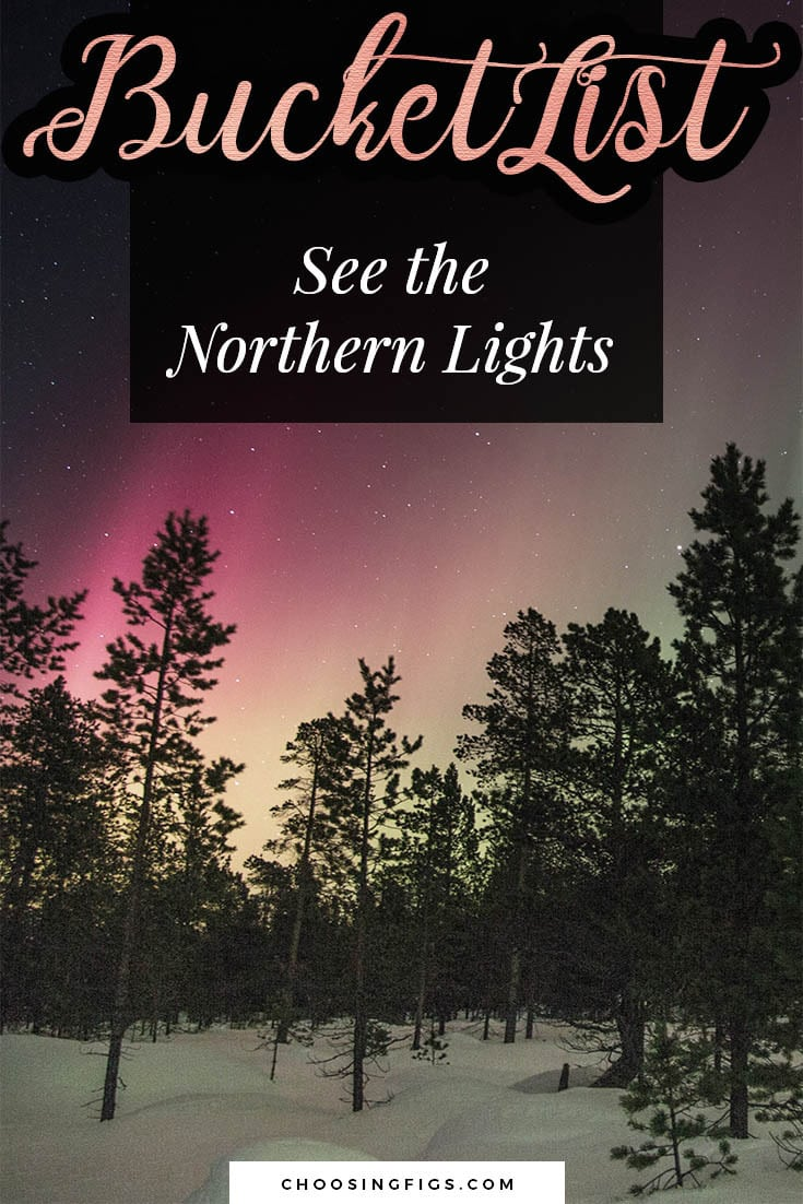 BUCKET LIST IDEAS: See the Northern Lights.