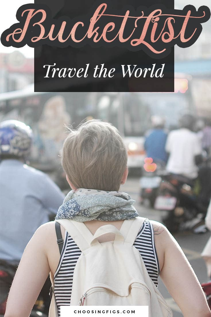 BUCKET LIST IDEAS: Travel the World.
