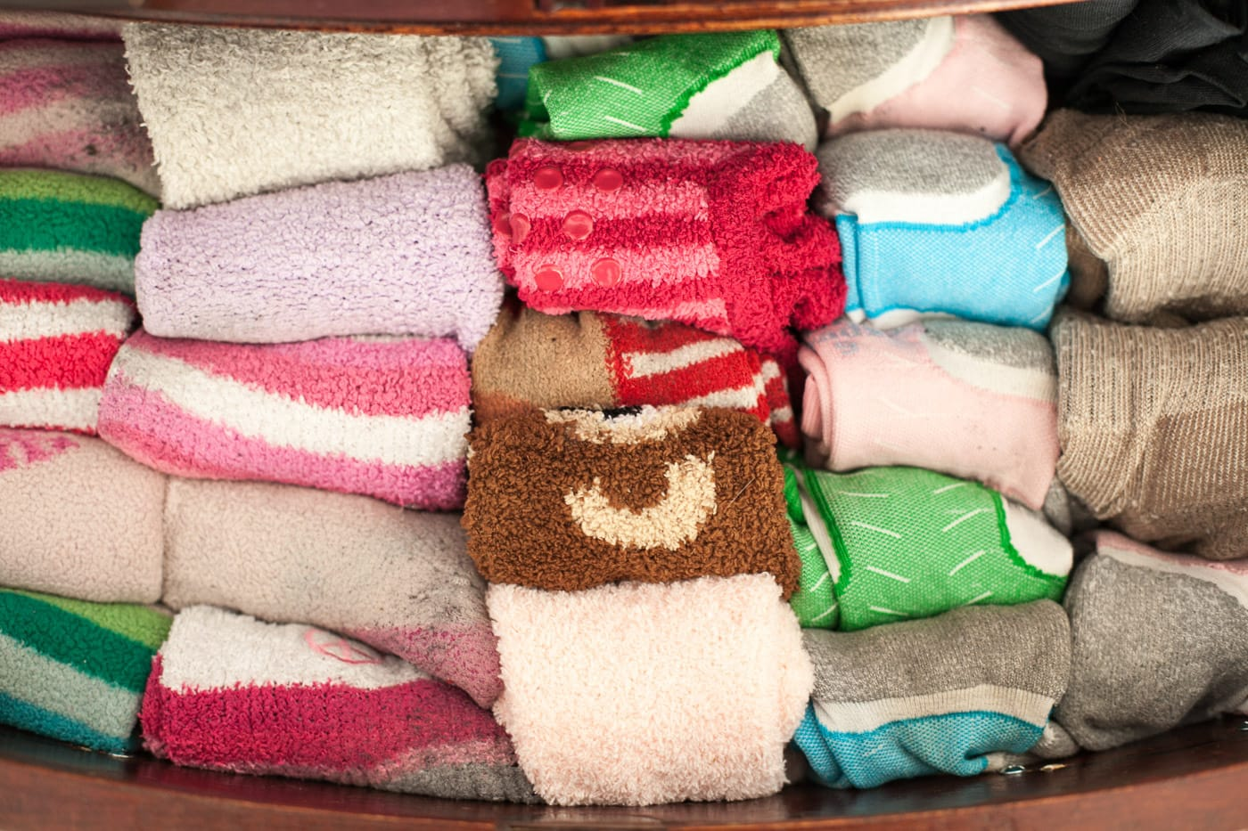 AFTER I don't think KonMari takes into account people who exclusively wear fuzzy rainbow socks but my sock drawer is now more organized than anything I've ever organized before in my life.