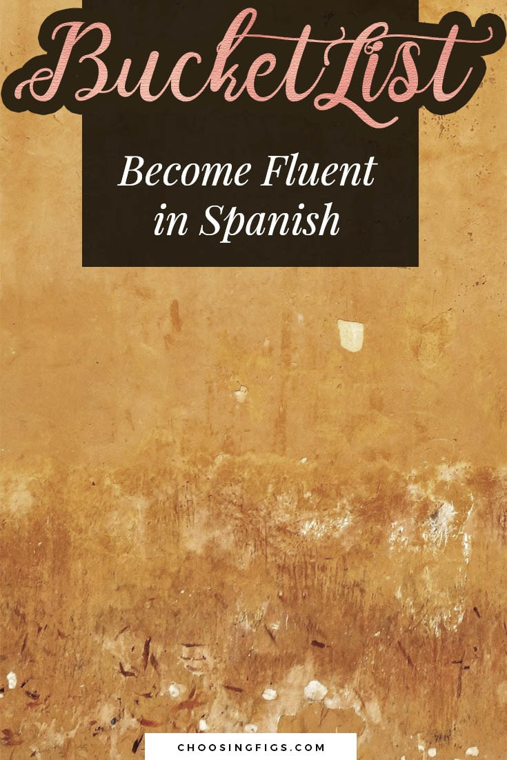 BUCKET LIST IDEAS: Become fluent in Spanish.