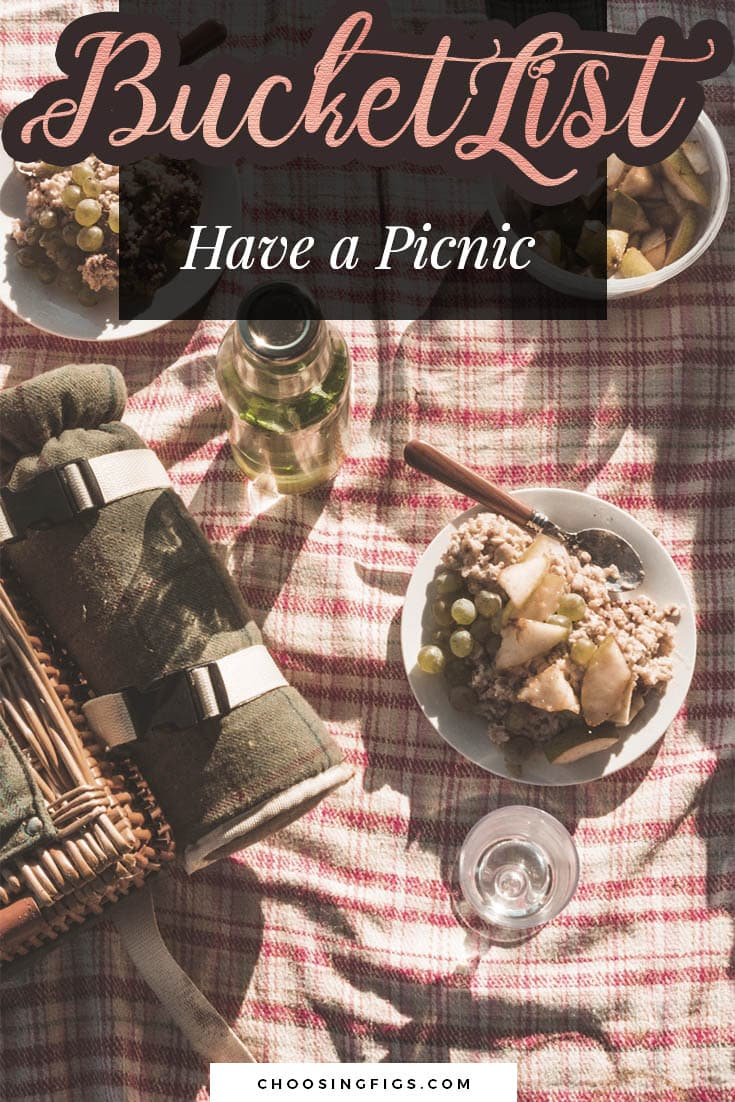 BUCKET LIST IDEAS: Have a picnic.
