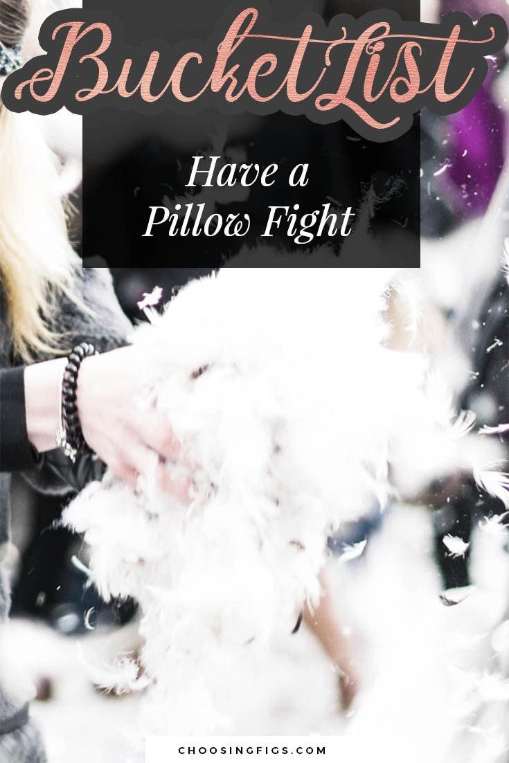 BUCKET LIST IDEAS: Have a Pillow Fight.