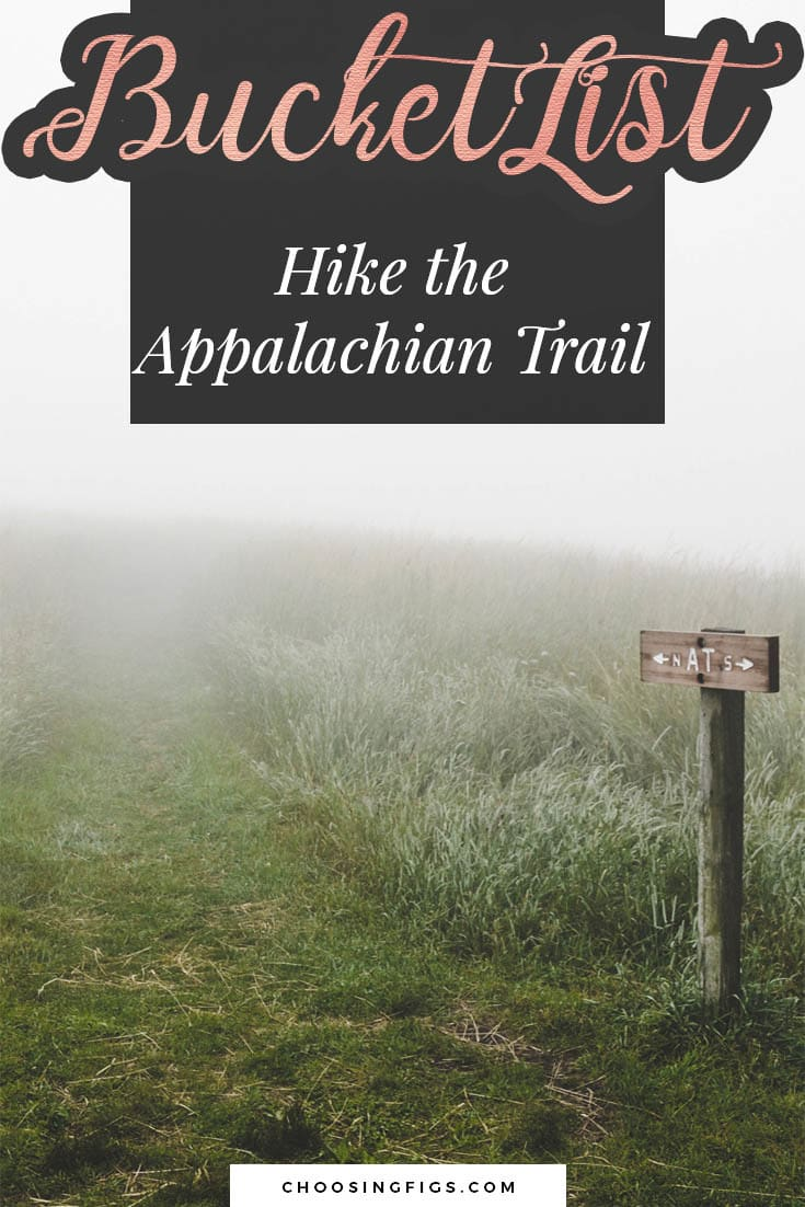 BUCKET LIST IDEAS: Hike the Appalachian Trail.