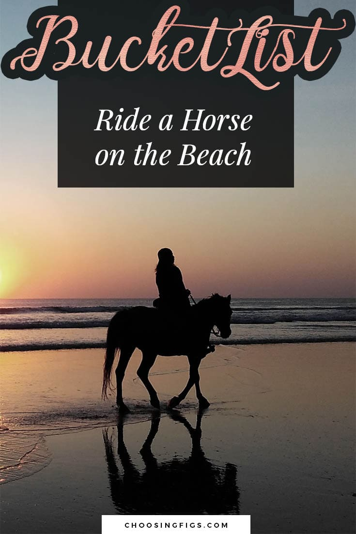 BUCKET LIST IDEAS: Ride a horse on a beach.