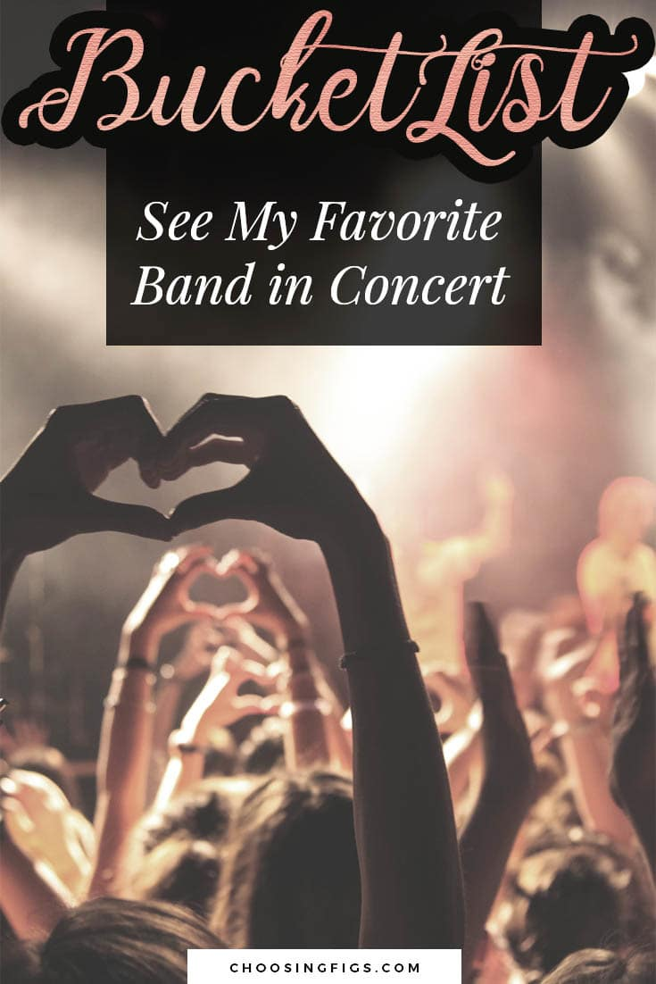 BUCKET LIST IDEAS: See my Favorite Band in Concert.