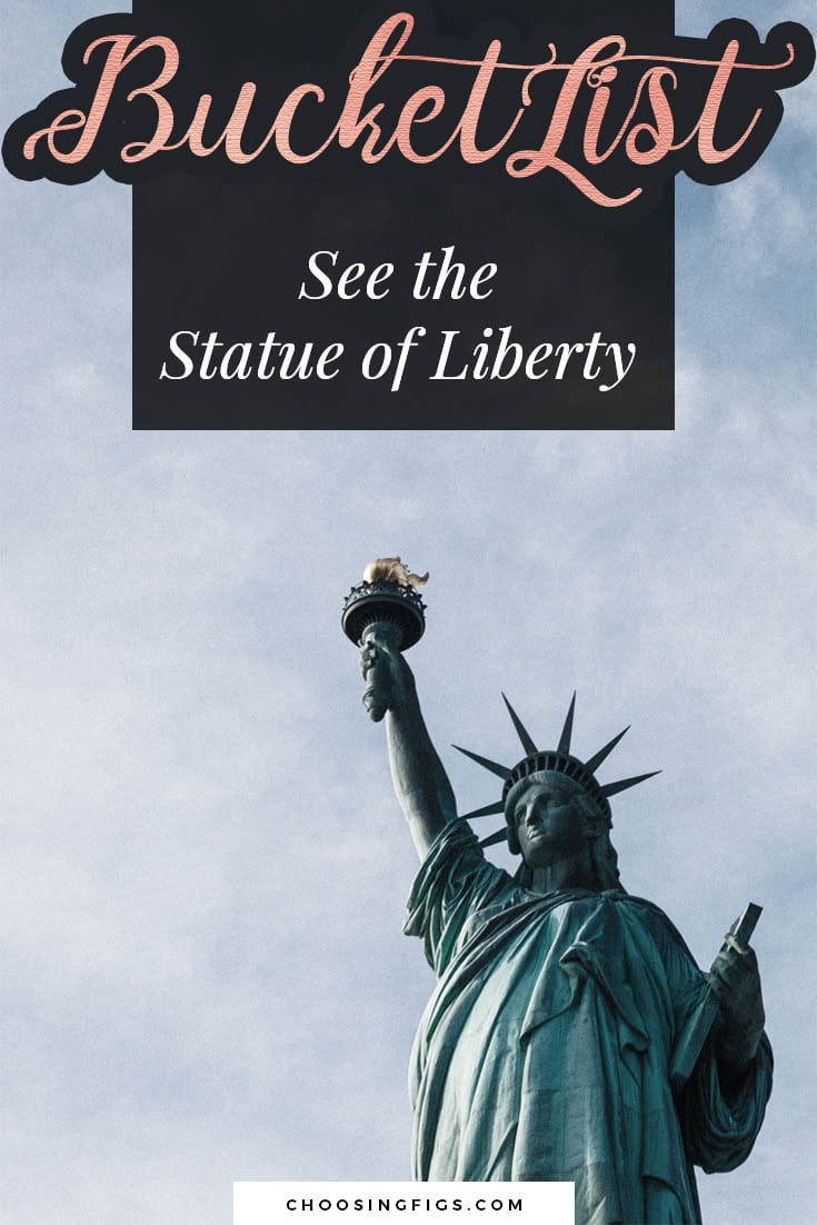 BUCKET LIST IDEAS: See the Statue on Liberty.