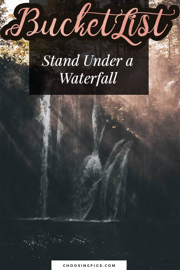 BUCKET LIST IDEAS: Stand under a Waterfall.