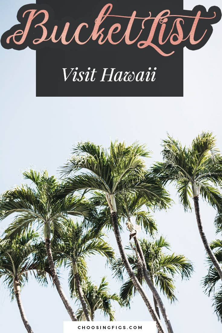 BUCKET LIST IDEAS: Visit Hawaii.