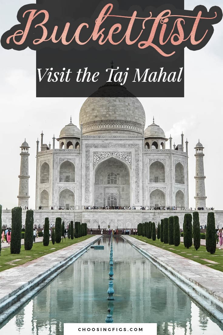 BUCKET LIST IDEAS: Visit the Taj Mahal.