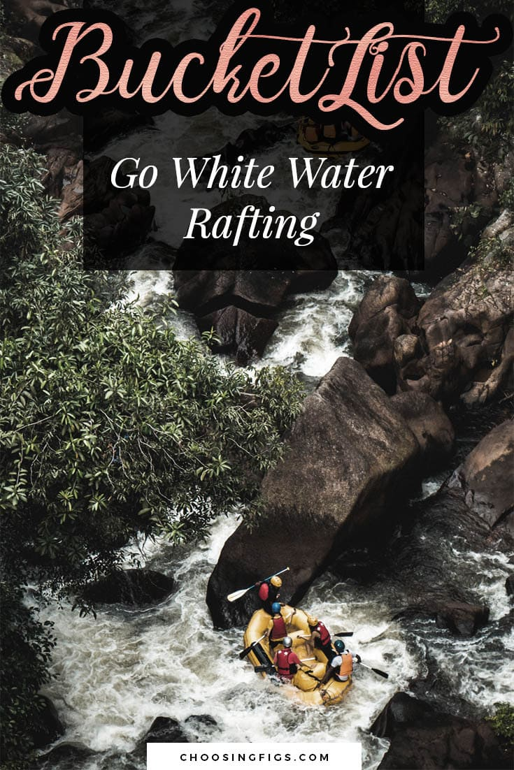 BUCKET LIST IDEAS: Go White Water Rafting.
