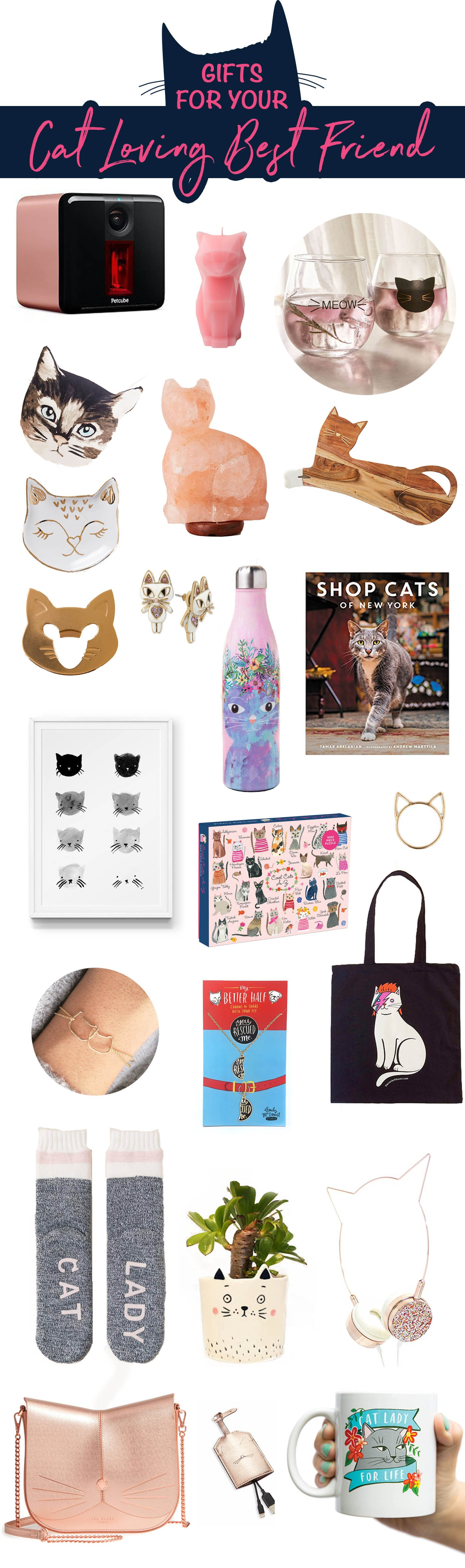 Gifts for your cat-loving best friend. Crazy Cat Lady Gifts. Presents for cat lovers.