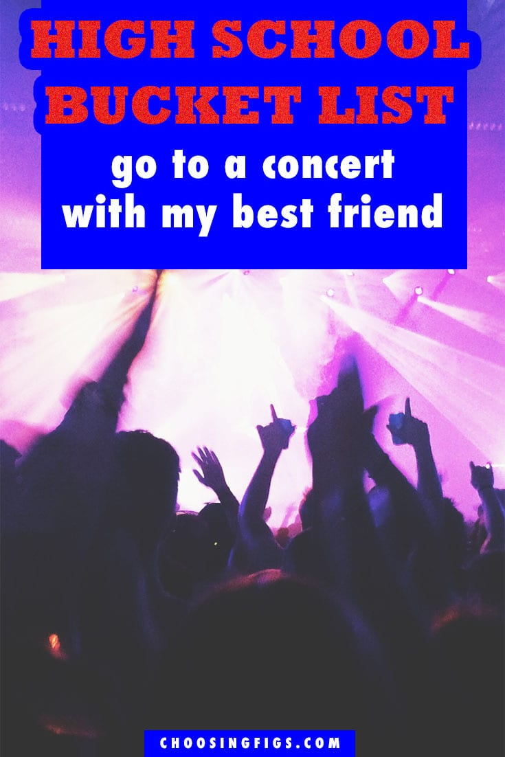 Go to a Concert with my Best Friend HIGH SCHOOL BUCKET LIST IDEAS. Things to do before you graduate high school.