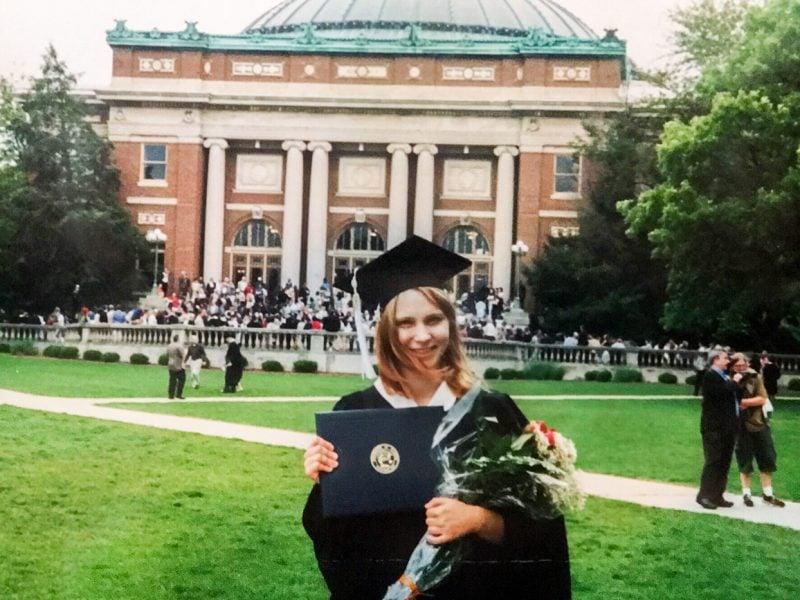 College graduation in 2003.