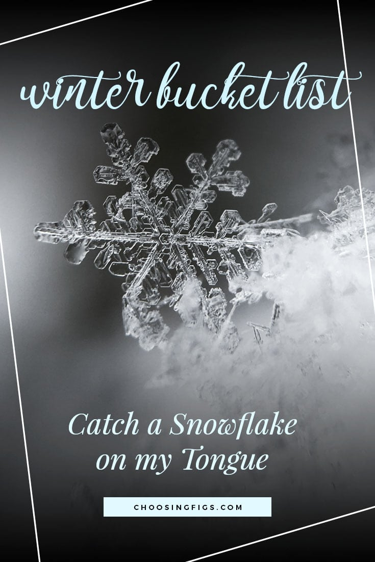 CATCH A SNOWFLAKE ON MY TONGUE | Winter Bucket List Ideas: 50 Things to do in Winter