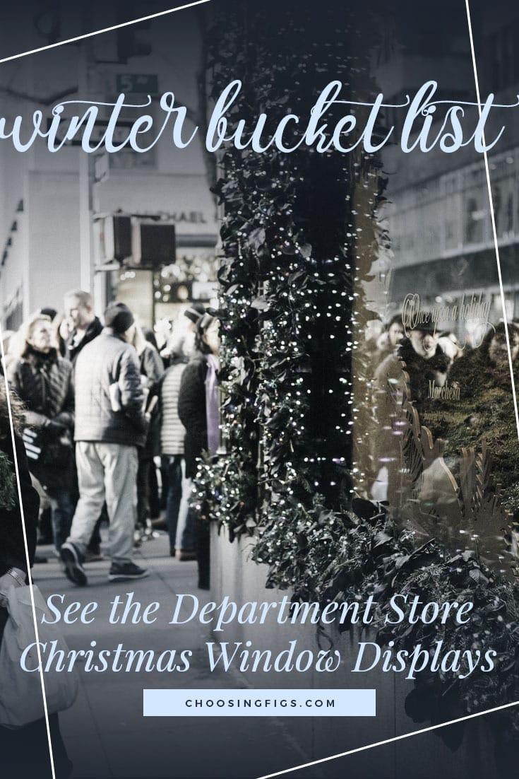SEE THE DEPARTMENT STORE WINDOW DISPLAYS | Winter Bucket List Ideas: 50 Things to do in Winter
