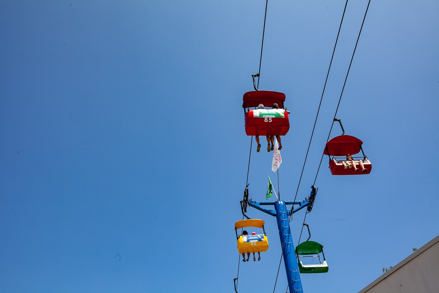 Take the SkyGlider Across the Park. | What to do at the Wisconsin State Fair.