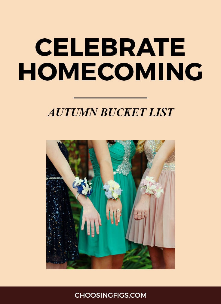CELEBRATE HOMECOMING | Autumn Bucket List: 50 Things to do in Fall