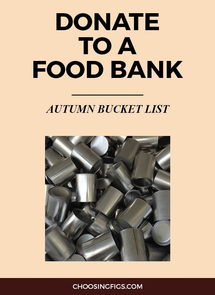DONATE TO A FOOD BANK | Autumn Bucket List: 50 Things to do in Fall