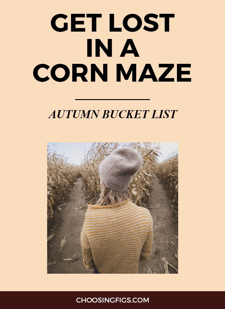 GET LOST IN A CORN MAZE | Autumn Bucket List: 50 Things to do in Fall