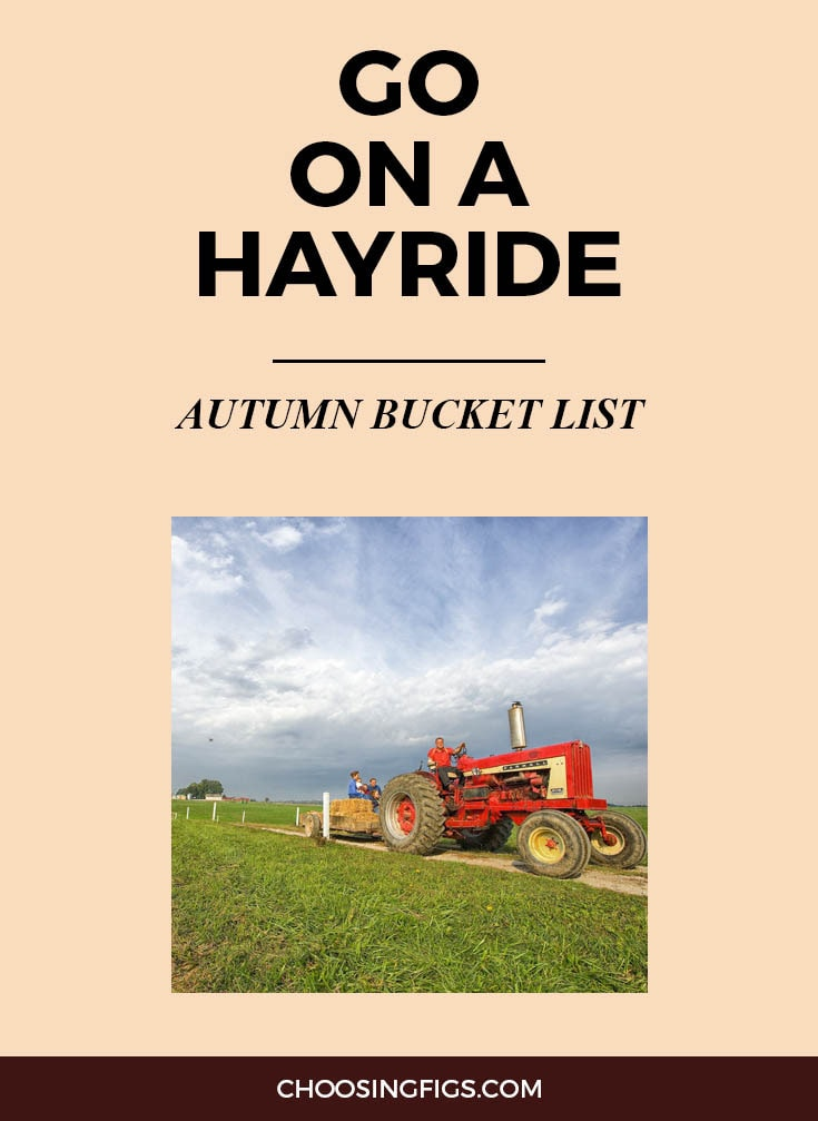 GO ON A HAYRIDE | Autumn Bucket List: 50 Things to do in Fall