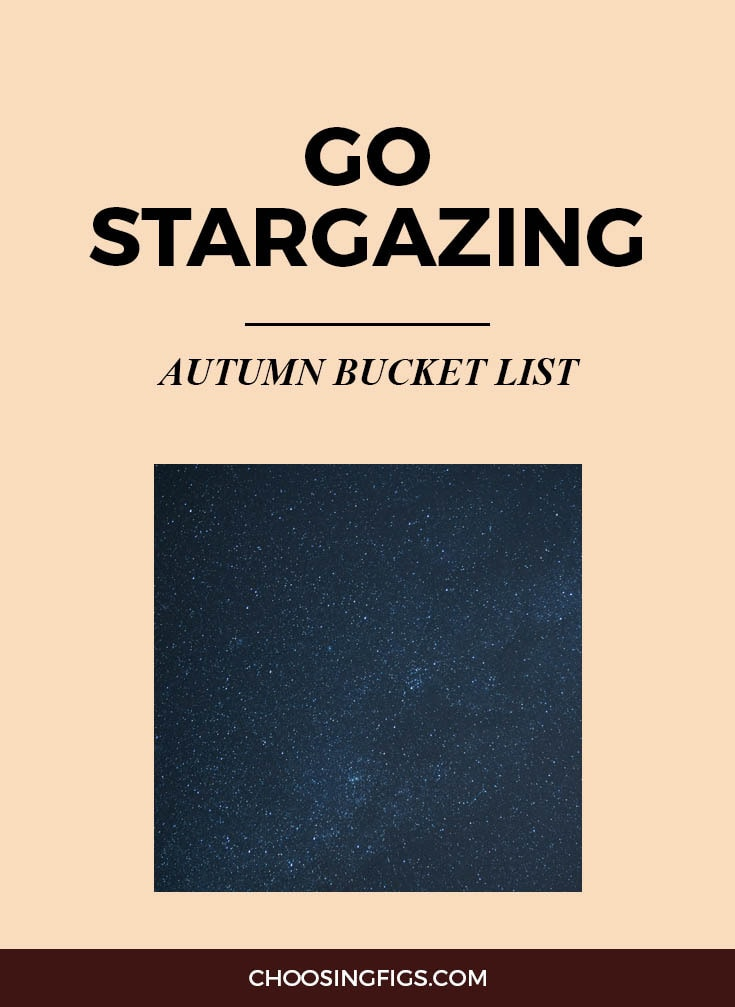 GO STARGAZING | Autumn Bucket List: 50 Things to do in Fall