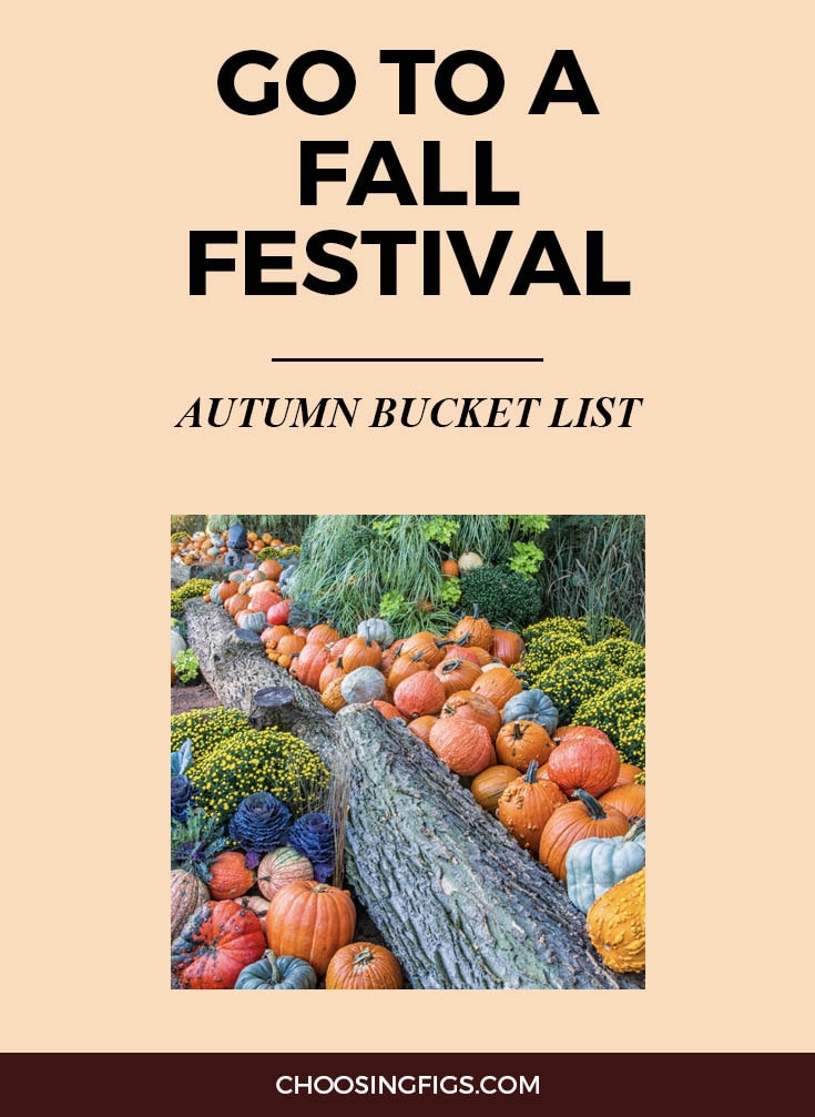 GO TO A FALL FESTIVAL | Autumn Bucket List: 50 Things to do in Fall