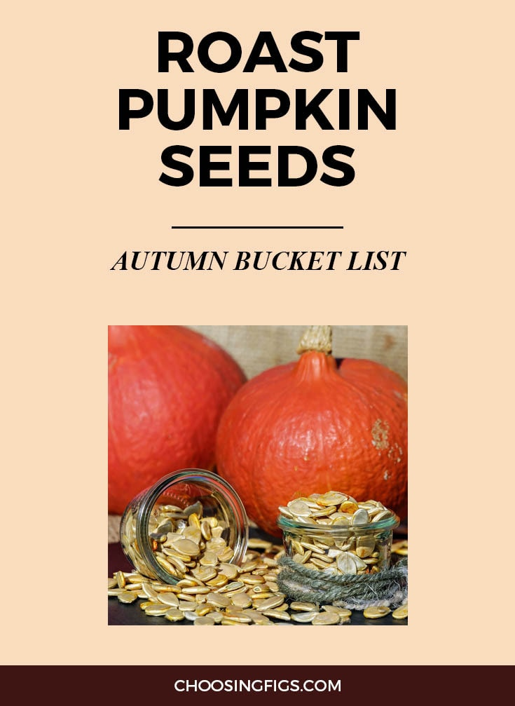 ROAST PUMPKIN SEEDS | Autumn Bucket List: 50 Things to do in Fall
