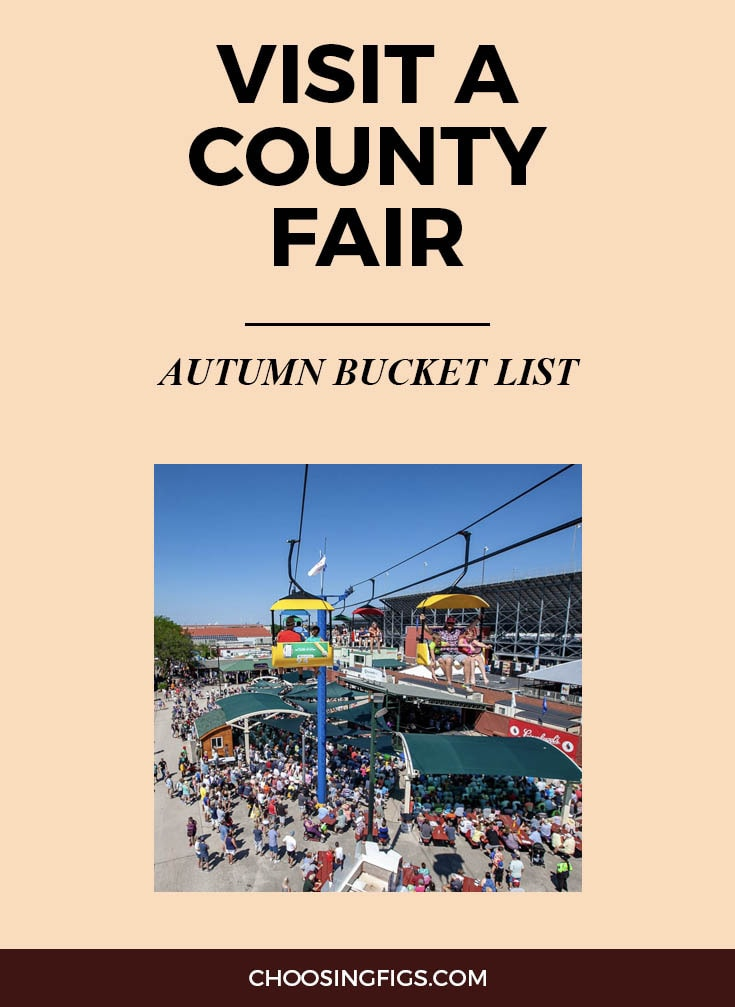 VISIT A COUNTY FAIR | Autumn Bucket List: 50 Things to do in Fall